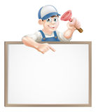 Plumber sign Royalty Free Stock Photos