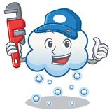 Plumber snow cloud character cartoon Royalty Free Stock Photography
