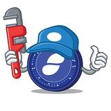 Plumber Status coin mascot cartoon. Vector illustration Royalty Free Stock Image