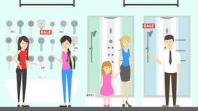 Plumber store illustration. Royalty Free Stock Image