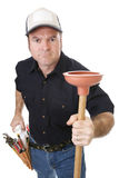 Plumber Strong & Tough Royalty Free Stock Photos