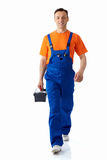 Plumber with suitcase Royalty Free Stock Photography