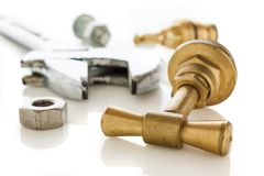 Plumber tools Royalty Free Stock Images