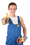 Plumber trainee Stock Images