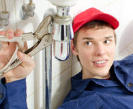 Plumber in uniform Stock Photos