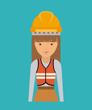 Plumber woman design Royalty Free Stock Images