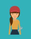 Plumber woman design Stock Image