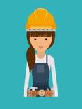 Plumber woman design Stock Photography