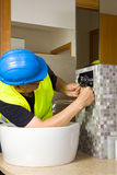 Plumber at work Royalty Free Stock Photos