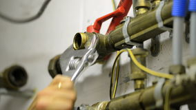 Plumber at work stock video footage