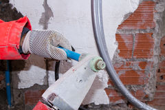 Plumber at work in a site Royalty Free Stock Photography