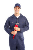 Plumber worker stock photo