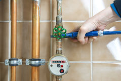 Plumber wrench Stock Photo