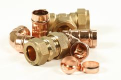 Plumbers fittings Stock Photography