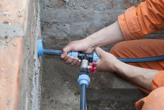 Plumbers and plumbing Royalty Free Stock Photography