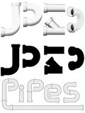Plumbers plumbing pipes construction set Royalty Free Stock Photo