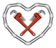 Plumbers Valentine Royalty Free Stock Photo