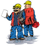 Plumbers (vector). Plumbers professionals. Are able to work well Royalty Free Stock Photography