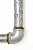 Plumbing. Detail of a water pipe and domestic plumbing Royalty Free Stock Photos