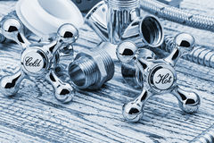 Plumbing and accessories Royalty Free Stock Images