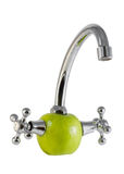 Plumbing for apples stock photo