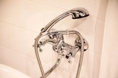 Plumbing in the bathroom Stock Photography