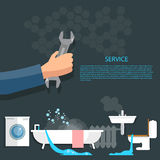 Plumbing concept Stock Images