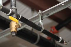 Plumbing construction. Plumbing - new construction sprinkler system Stock Images