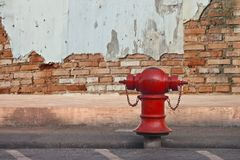 Plumbing. For firefighters in the city Stock Photo