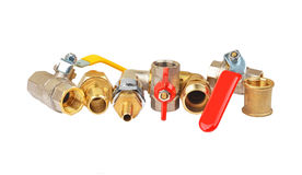 Plumbing fitting and ball valve Stock Image