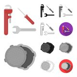 Plumbing, fitting cartoon,black,flat,monochrome,outline icons in set collection for design. Equipment and tools vector. Symbol stock  illustration Stock Photos