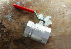 Plumbing water valves fitting and connections   Stock Photos