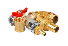 Plumbing fitting and tap Royalty Free Stock Photos