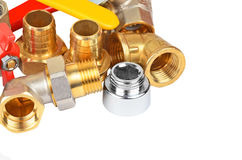 Plumbing fitting and tap Stock Images