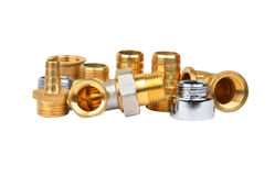 Plumbing fitting and tubulure Royalty Free Stock Photo