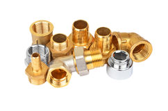 Plumbing fitting and tubulure Royalty Free Stock Image