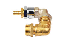 Plumbing fitting and tubulure Stock Photography