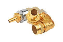 Plumbing fitting and tubulure Royalty Free Stock Images