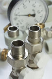 Plumbing fittings Royalty Free Stock Photo