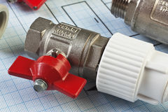 Plumbing fittings Stock Images