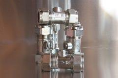 Plumbing fittings Stock Image