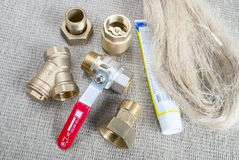 Plumbing fittings Royalty Free Stock Image