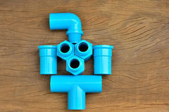 Plumbing fittings put together Royalty Free Stock Photography