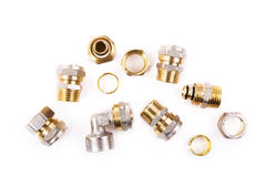 Plumbing fittings Royalty Free Stock Photos