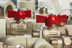 Plumbing fixtures Stock Images
