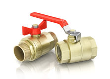 Plumbing fixtures and piping parts Stock Photo