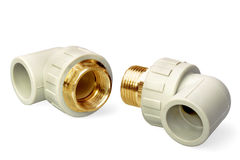 Plumbing fixtures and piping parts Stock Images
