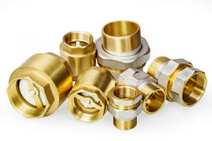 Plumbing fixtures and piping parts Royalty Free Stock Photo