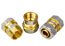 Plumbing fixtures and piping parts Royalty Free Stock Photography