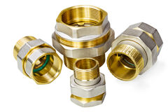 Plumbing fixtures and piping parts Royalty Free Stock Photos